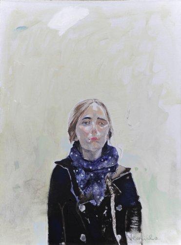 Neonilla Medvedeva - 2 from 10 (s-portrait) - 2009 - oil on canvas - 38 x 25