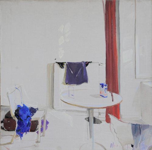 Neonilla Medvedeva - In the Workshop ( Paris ) - 2008 - oil on canvas - 41 x 40