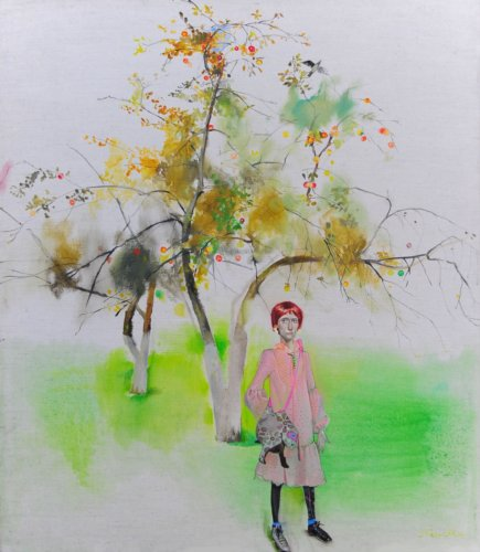 Neonilla Medvedeva - Apple tree - 2009 - oil on canvas - 81x71