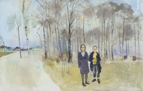 Neonilla Medvedeva - Anastasija, I and Atis - 2009 - oil on canvas - 70x100