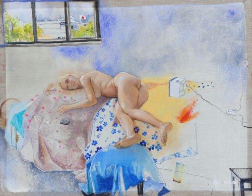 Neonilla Medvedeva - Nude - 2009 - oil on canvas - 40x50