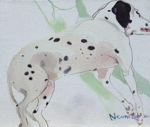 Neonilla Medvedeva - Dog (7 from 10) - 2009 - oil on canvas - 15 x 19 - Collection of A.Jakobsons