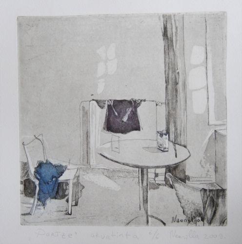 Neonilla Medvedeva - Paris - 6/6  etching and aquatint - 20 x 20 - 2009