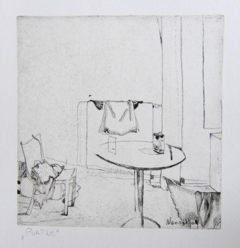 Neonilla Medvedeva - Paris - etching - 20 x 20 - 2009
