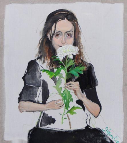 Neonilla Medvedeva - Tonja - 2009 - oil on canvas - 34 x 30 - Collection of Tosha