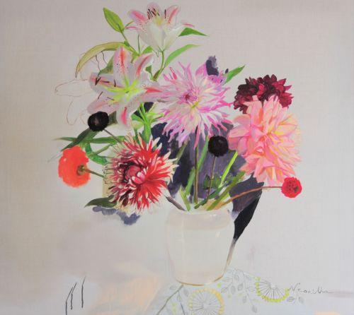 Neonilla Medvedeva - FLOWERS!!! - 2010 - oil on canvas - 79 x 90