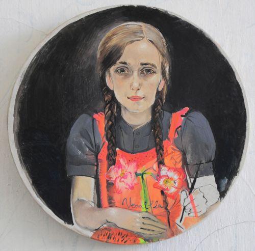 Neonilla Medvedeva - Neonilla (self-portrait) - 2009 - oil on canvas - h-27