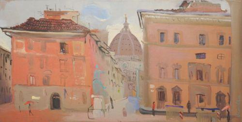 Neonilla Medvedeva - Santa Maria Del Fiore  (Florence) - oil on canvas - 30 x 59 - 2008