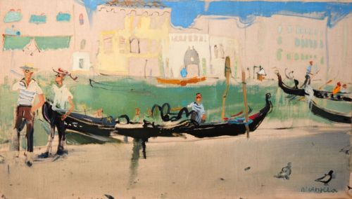 Neonilla Medvedeva - Smilling Venice - oil on canvas - 40 x 70 - 2008