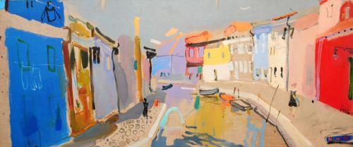 Neonilla Medvedeva - Burano - oil on canvas - 30 x 70 - 2008