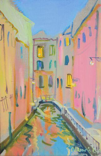 Neonilla Medvedeva - Venice in the evening 1 - oil on canvas - 30 x 20 - 2010