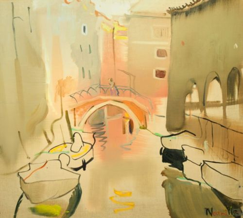 Neonilla Medvedeva - Pink Venice - oil on canvas - 45 x 50 - 2008 - Collection of the SEB Bank