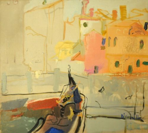 Neonilla Medvedeva - Pink Venice 2 - oil on canvas - 45 x 50 - 2008 - Collection of the SEB Bank