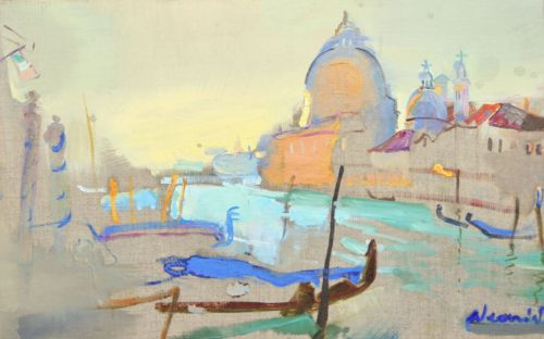 Neonilla Medvedeva - Salute (Venice) - oil on canvas - 24 x 37 - 2008