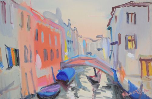 Neonilla Medvedeva - Venice in the evening 2 - oil on canvas - 20 x 30 - 2008