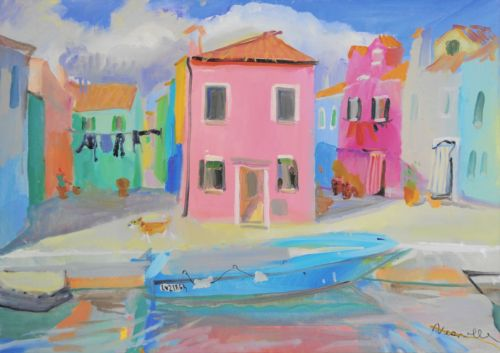 Neonilla Medvedeva - Burano 1 - oil on canvas - 50 x 70  - 2010